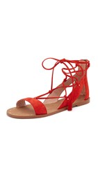 Madewell Bridget Lace Up Gladiator Sandals Thai Chili