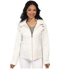 Nautica Hooded Quilted Jacket Cloud Pearl Women's Coat White