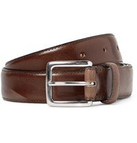 J.Crew 3Cm Brown Leather Belt Brown