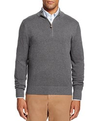 Brooks Brothers Textured Half Zip Sweater Charcoal Heather