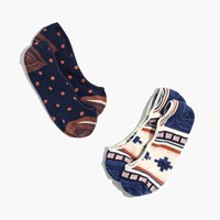 Madewell Two Pack Southwest Low Profile Socks Navy Neutral Rustic
