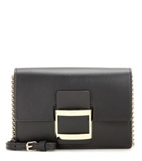 Roger Vivier Viv' Micro Leather Shoulder Bag Black