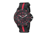 Timex Expedition Gallatin Nylon Slip Thru Strap Black Red Watches