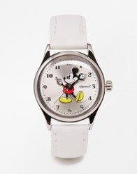 Disney White Mickey Mouse Watch