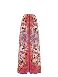 Etro Paisley Print Silk Crepe Long Skirt
