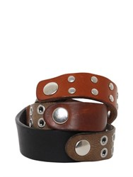 Maison Martin Margiela Studded Leather Wrap Bracelet