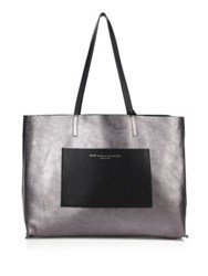 Want Les Essentiels Strauss Horizonal Reversible Leather Tote Jet Black
