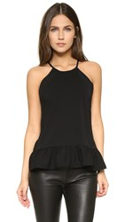 Amanda Uprichard Shalyn Top Black