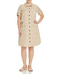 Marina Rinaldi Plus Decibel Safari Shirt Dress Colonial