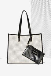 Nasty Gal Charlize Perforated Tote Bag