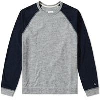 Rag And Bone Rag And Bone Long Sleeve Baseball Tee Grey
