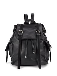 French Connection Leather Crossbody Backpack Nutmeg