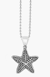 Lagos 'Rare Wonders Starfish' Long Talisman Necklace Silver
