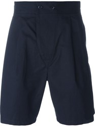Christophe Lemaire Lemaire Pleated Shorts Blue