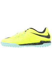 Nike Performance Hypervenomx Finale Tf Astro Turf Trainers Volt Black Hyper Turquoise Neon Yellow