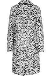 Givenchy Coat In Dalmatian Print Goat Hair White Leopard Print