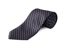 Double Two Clip On Floral Polyestertie Grey