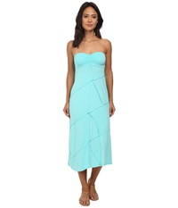 Mod O Doc Cotton Modal Spandex Jersey Seamed Maxi Skirt Tube Dress Atlantic Women's Dress Blue