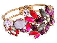 Betsey Johnson Fall Follies Flower Hinge Bangle Multi Bracelet