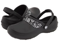 Crocs Mercy Work Black Silver Women's Clog Shoes