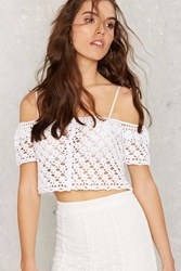Crochet What's Up Hello Crop Top