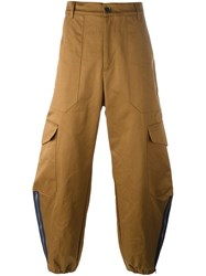 Barena Cargo Wide Leg Trousers Brown