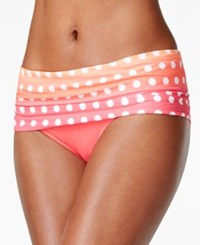 Coco Reef Polka Dot Foldover Bikini Bottom Women's Swimsuit Coral