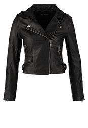 Miss Selfridge Leather Jacket Black