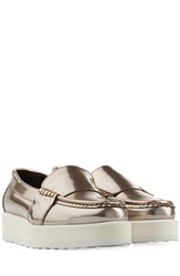 Pierre Hardy Patent Leather Platform Loafers