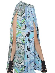 Emilio Pucci Printed Silk Charmeuse Long Skirt