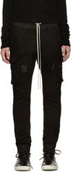 Rick Owens Black Cargo Lounge Pants