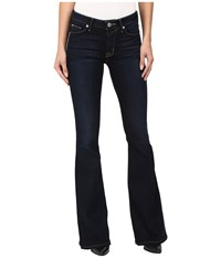 Hudson Mia Five Pocket Mid Rise Flare In Night Vision Night Vision Women's Jeans Brown