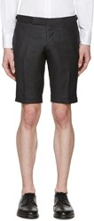 Thom Browne Grey Wool Side Tab Shorts