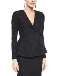 St. John Sparkle Texture Double Breasted Jacket