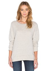 Mother The Straight A Sweatshirt Light Gray