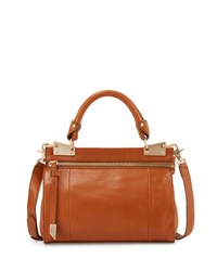 Foley Corinna Dione Leather Messenger Bag Honey Brow