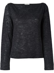 Forte Forte Boat Neck Knitted Top Black
