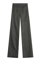 Isa Arfen Wide Leg Wool Pants Grey