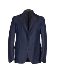 Piombo Suits And Jackets Blazers Men Dark Blue
