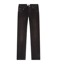 Acne Studios Washed Out Cropped Jeans Male Dark Grey