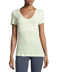 Alo Yoga Seamless V Neck Tee Pale Green
