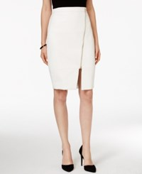 Xoxo Juniors' Zipper Front Faux Leather Pencil Skirt Ivory