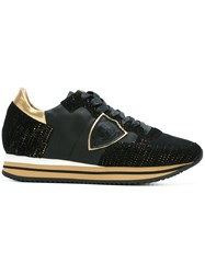 Philippe Model Metallic Detail Sneakers Black