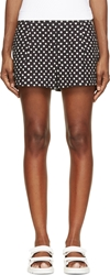 Band Of Outsiders Black And White Ink Dot Side Zip Shorts