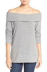 Cupcakes And Cashmere Women's 'Brooklyn' Off The Shoulder Top Heather Grey