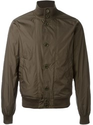 Aspesi Zip Up Bomber Jacket Green