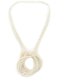 Jozica Knotted Pearl Necklace Nude And Neutrals