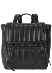 Dkny Mixed Bombay Quilted Leather Backpack Black
