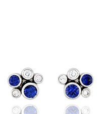 Boodles Raindance Sapphire Earrings Female Platinum