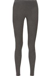 Theory Terza Stretch Jersey Leggings Gray